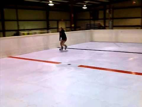 skating forward and transitioning to backward is easy on SmartRink synthetic ice