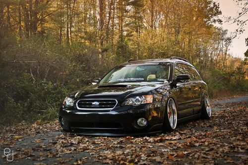 Subaru Legacy. Not normally a Subaru fan, but this looks pretty sweet! Rotiform?