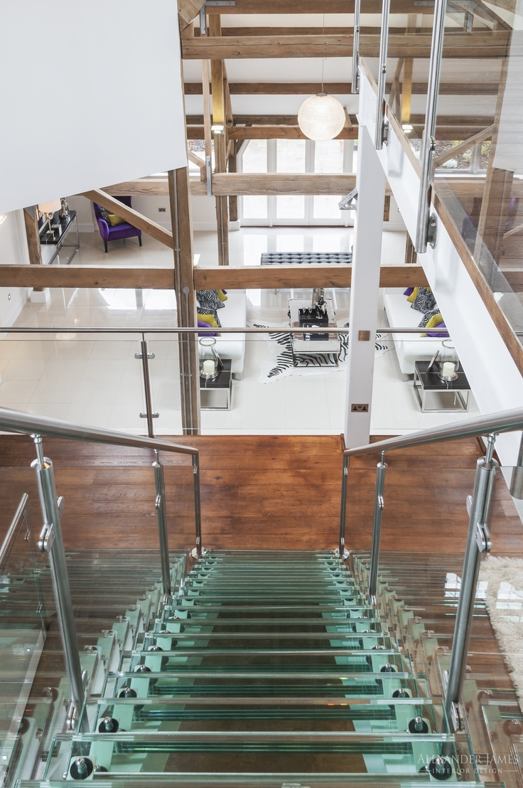 A view from the top of the mezzanine. #interiors #design #home