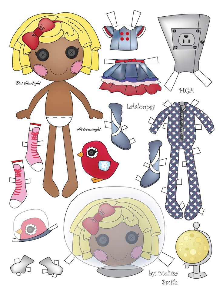 Here is another Lalaloopsy paper doll featuring Dot Starlight.  I've been having trouble sorting which Lalaloopsy Dolls I've posted, so so...
