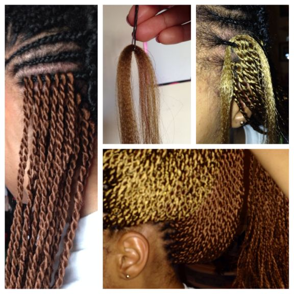 Installing Crochet Senegalese Twists || Definitely considering doing this!