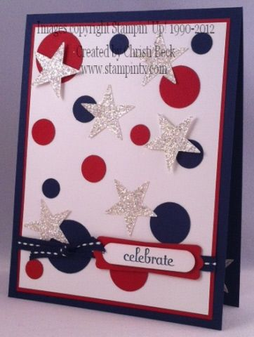 #patruotic card. by beckcjb - Cards and Paper Crafts at Splitcoaststampers. Simple and cute idea. For My handmade greeting cards visit me at My Personal blog: http://stampingwithbibiana.blogspot.com/