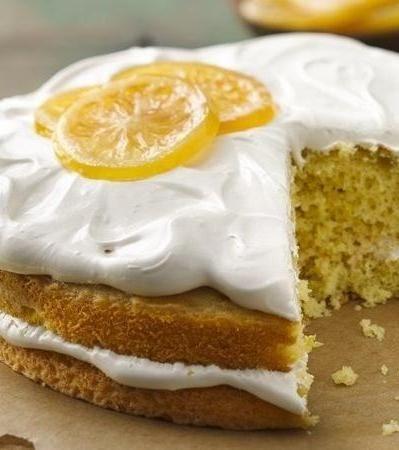 Lemon Cake with Irish Breakfast Tea Frosting