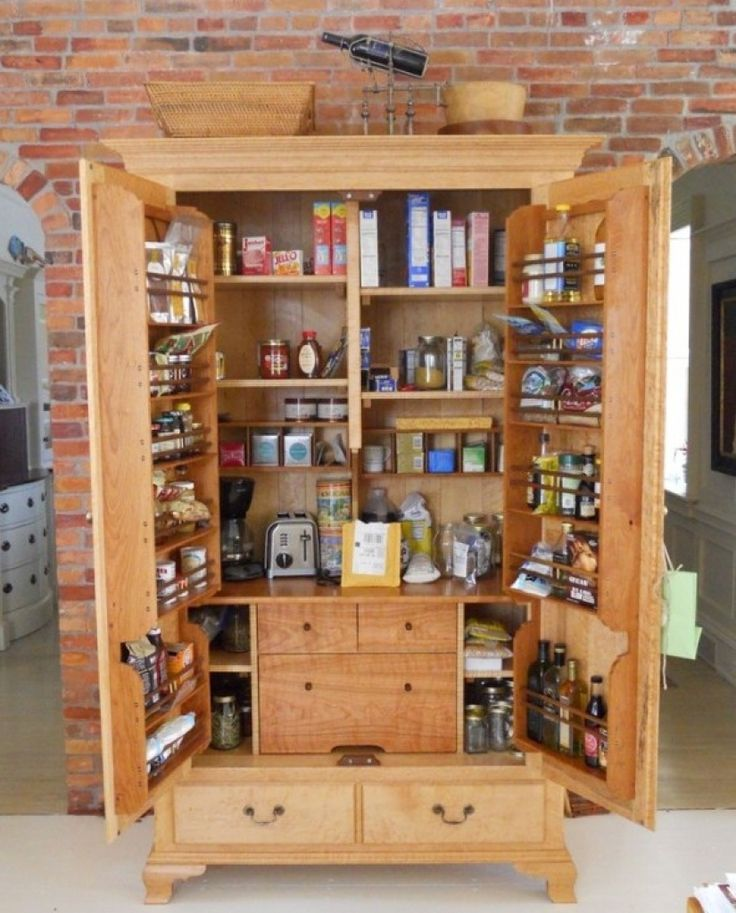 Pantry Storage For Kitchen with Free Standing