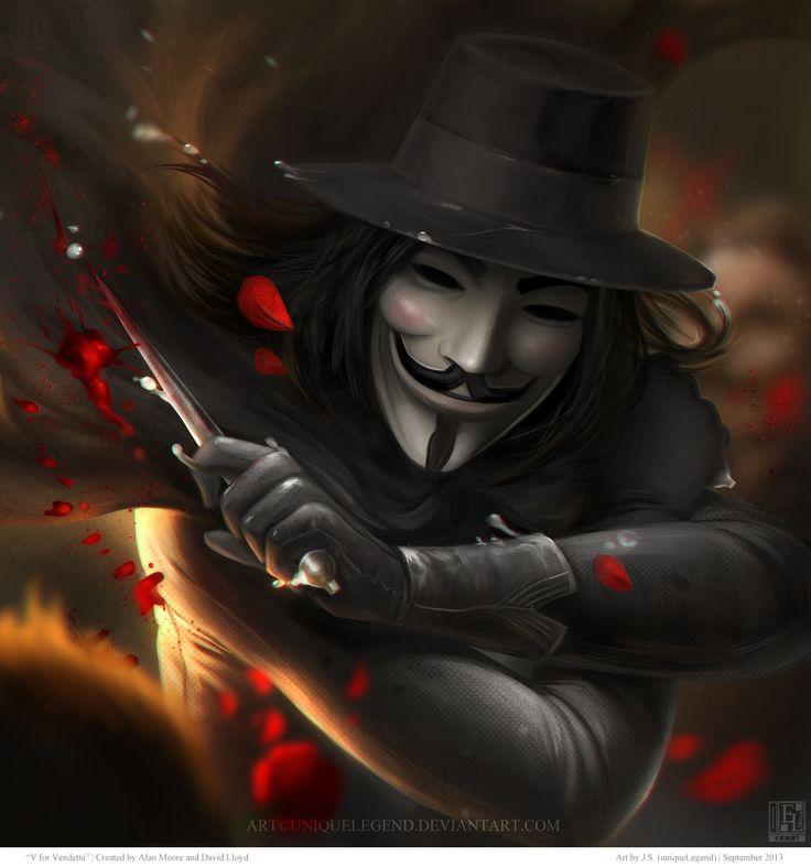 V For Vendetta by uniqueLegend.deviantart.com on @deviantART