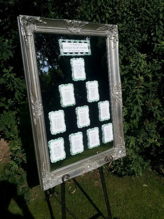 Silver Mirrored Table Plan http://www.diamondbutterfly.co.uk/