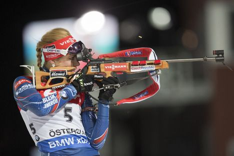 03.12.2015, Oestersund, Sweden (SWE):Gabriela Soukalova (CZE) - IBU world cup biathlon, individual women, Oestersund (SWE). www.nordicfocus.com. © Manzoni/NordicFocus. Every downloaded picture is fee-liable. NordicFocus