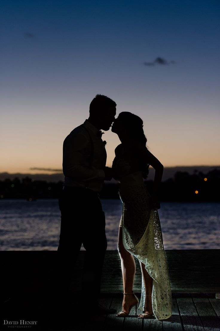 Bride and Groom Sydney Harbour Silhouette