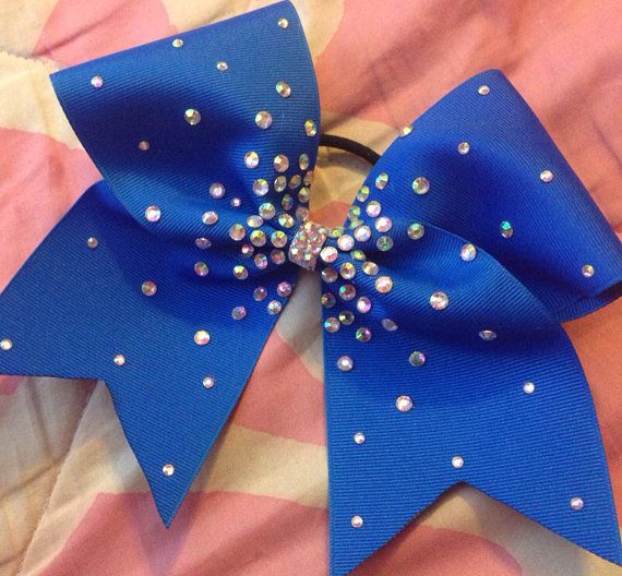 Royal Blue Cheer Bow by KathyBows on Etsy