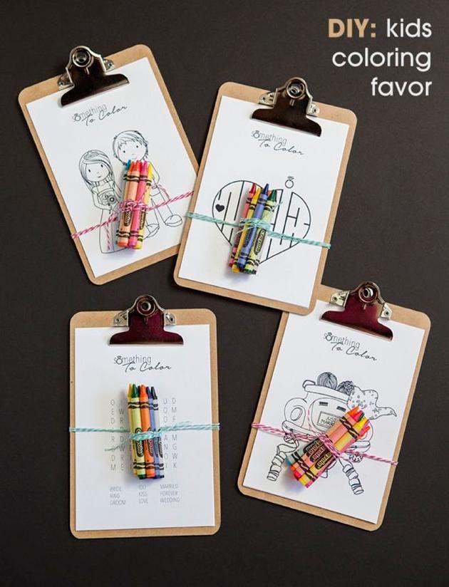 DIY Kid's Coloring Book - 10 Unique Wedding Ideas on the Wedding Paper Divas blog. #wedding