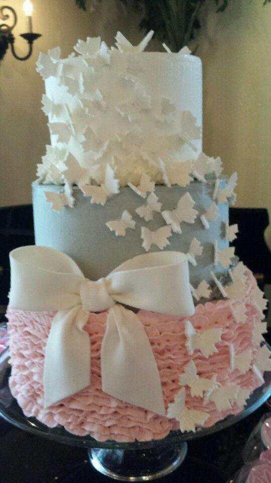 Butterfly Cake Baby Girl Baby Shower Fondant