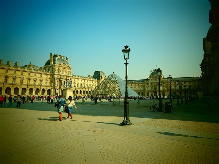 Louvre, Pyramide, Glaspyramide, Paris, Frankrig