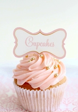 Do the rest of the cupcakes like this. Rose frosting and then a few tiny pearls in pink, white or gold (gotta see what michaels has)