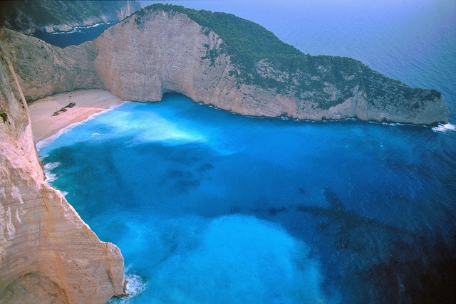 GREECE CHANNEL | Navagio Beach, Zakinthos Greece.  AKA Shipwrecked beach