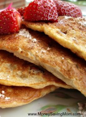 Oatmeal Pecan Pancakes -- these are delicious!