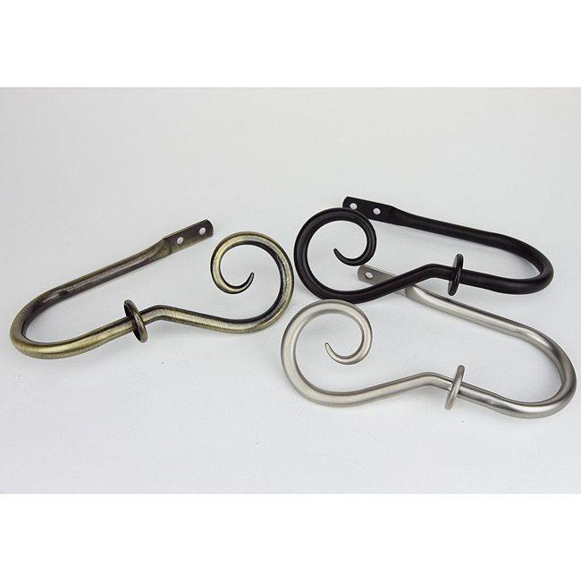 InStyleDesign Curve Curtain Holdbacks (Set of 2) (Antique Brass) (Metal)