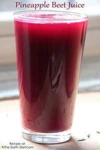 Pineapple Beet Juice Benefits: + Aids Weight Loss + Increases Energy + Cleanses skin + Cleanses liver + High in Anti Oxidant + Anti Inflammatory + Aids digestion + High in manganese, a mineral that is critical to development of strong bones and connective tissue