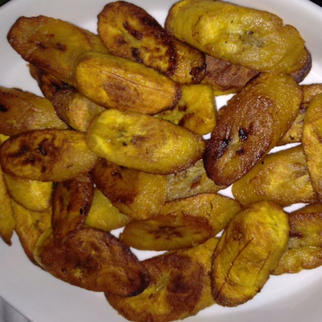 Fried plantains by Chef Harry of Trinity Villa.
