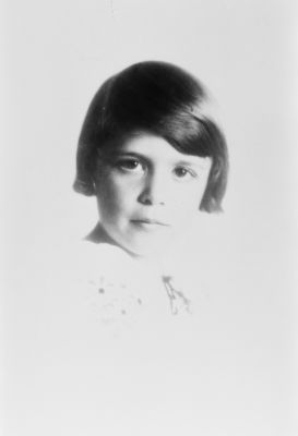 Barbara Bush nee Pierce, in the early 1930s when she was around 5 or 6.  Did she know that she would not be only the wife of a President, but also the mother?