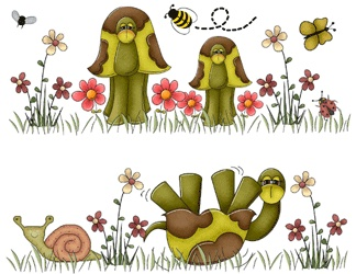 TURTLES BUTTERFLY BEE BABY GIRL NURSERY CHILDRENS WALL BORDER STICKERS DECALS | eBay