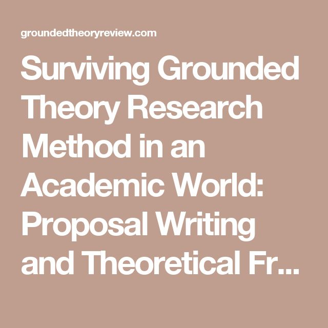 Grounded theory dissertation outline