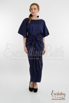 CA.21280 Blue Meena Silk Dress Catalog