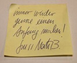 """""""Immer wieder gerne einen Anfang machen"""" Martin Baltscheits #denkzettel von der Bücherschau #litmuc13"""