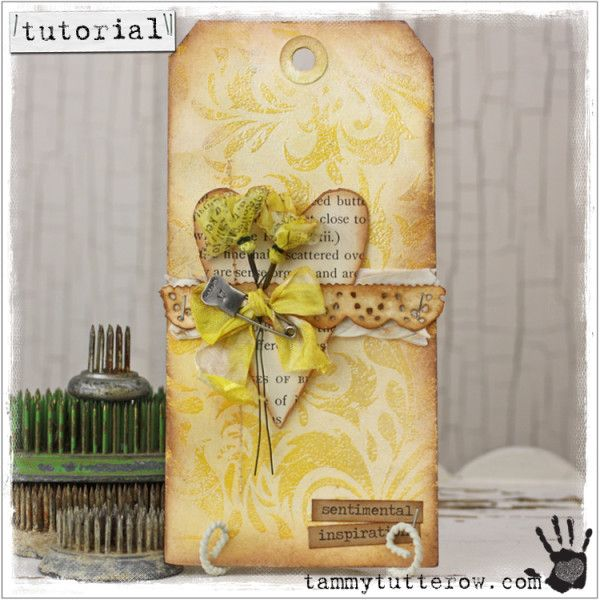 Tammy Tutterow Tutorial | Satin Damask Background