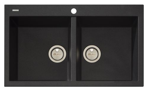 Oliveri Australia Santorini Double Bowl Inset Black Sink is stain resistant & scratch proof.   Oliveri's granite sinks withstand thermal shocks and are heat resistant up to 280°C and comes with a lifetime warranty.   Made in Italy, 20% off - limited stock available.  http://www.abltilecentre.com.au/oliveri-santorini-double-bowl-black-sink/