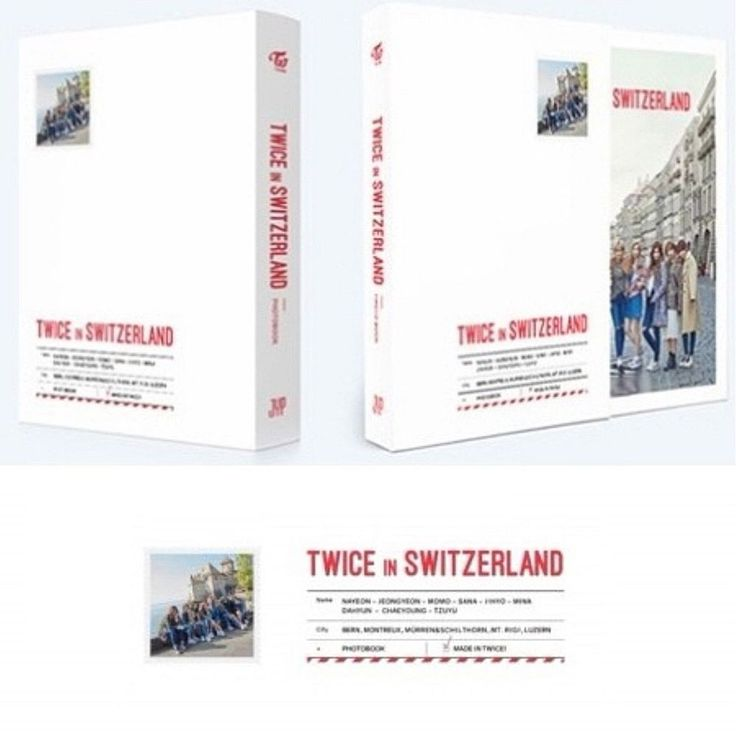[TWICE TV5] Twice In Switzerland PHOTOBOOK Sealed New Booklet(304p)+DVD+Postcard