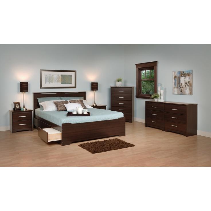 Everett Espresso King  Drawer Platform Bed