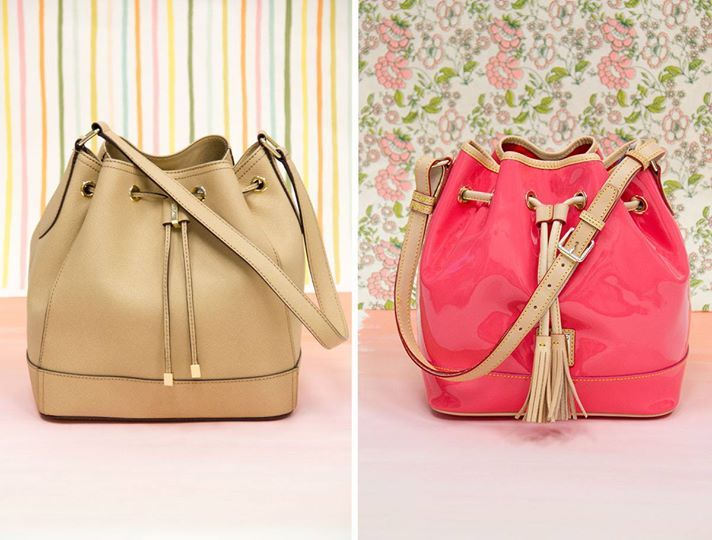 To pop, or not to pop!  Neutral or watermelon — which color is your story?  designer bucket bags $99.99 each, compare at $198