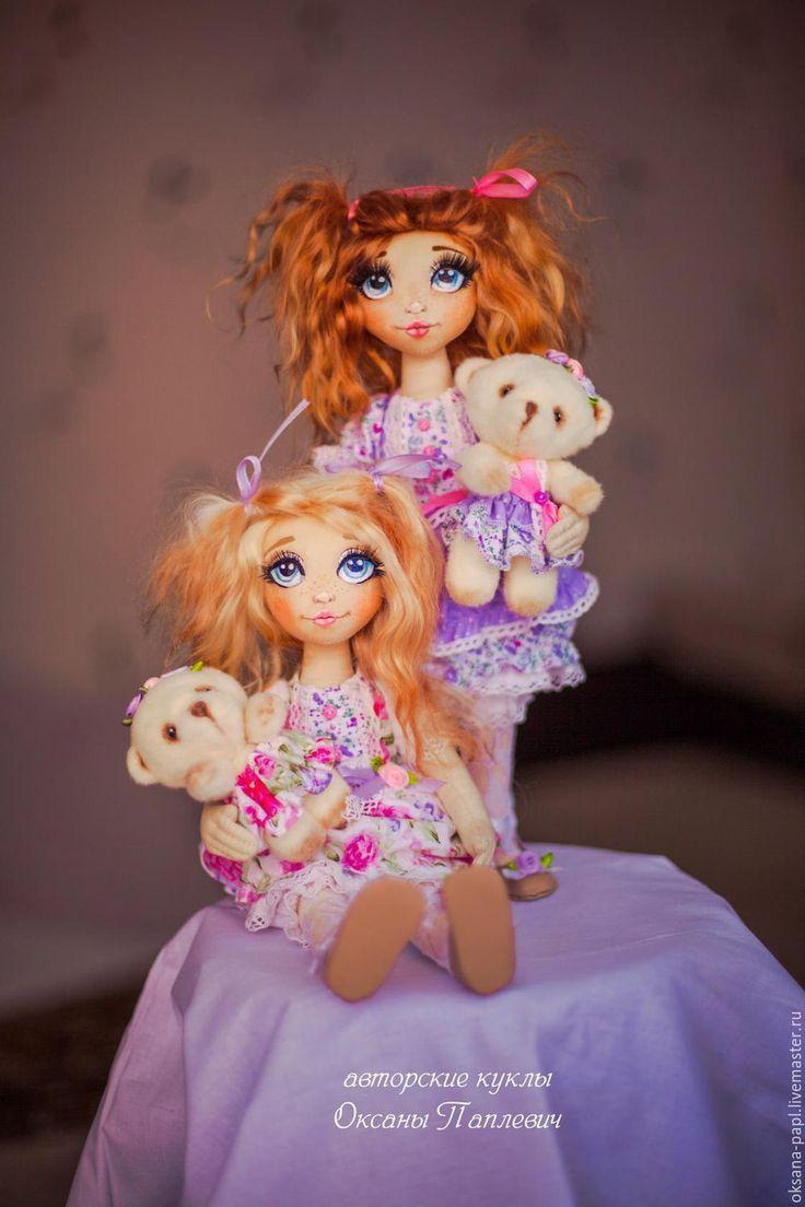 Купить Авторская текстильная кукла - фиолетовый, куколка, авторская кукла, текстильная кукла