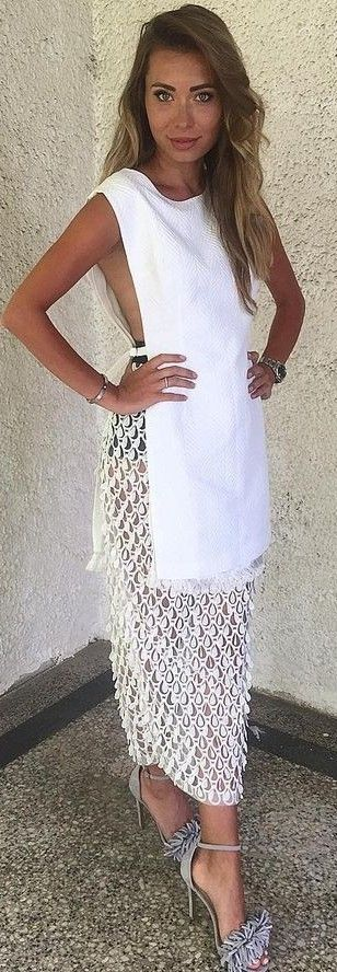 #summer #lovely #style | White Night Out Dress