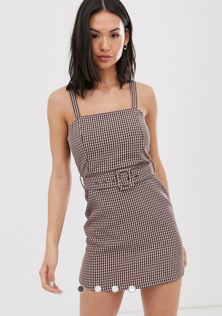Pull&Bear belted dress in pink gingham – Wishlist