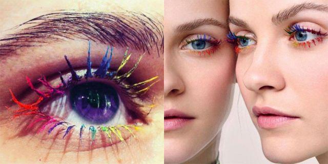 Le ciglia arcobaleno per occhi di mille colori -cosmopolitan.it