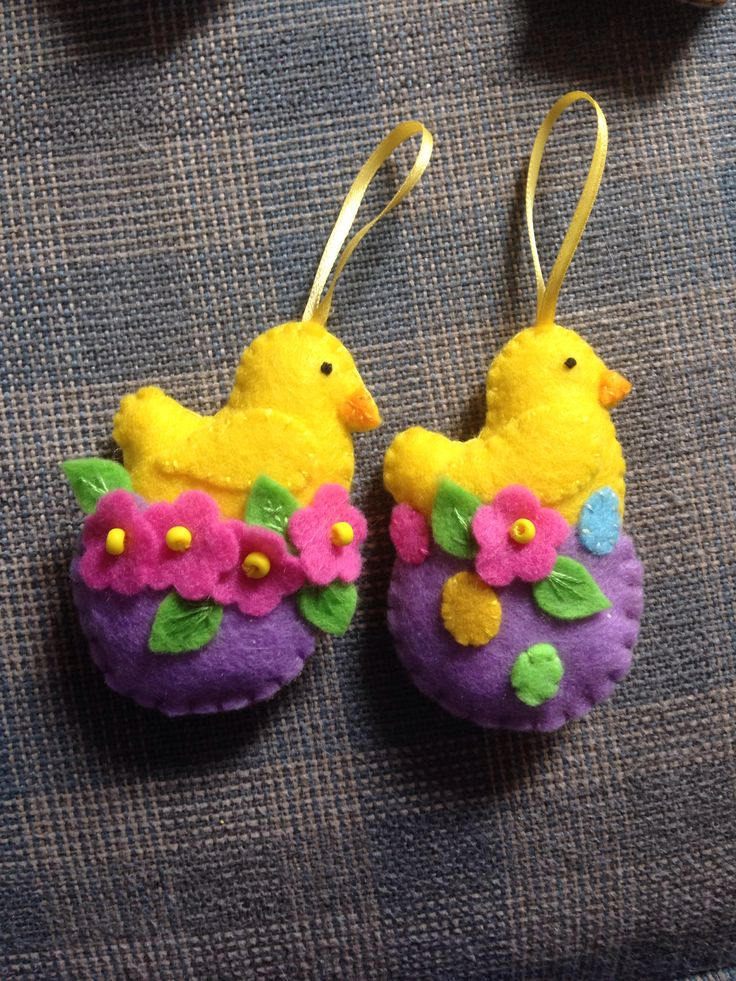 Felt chicks I made