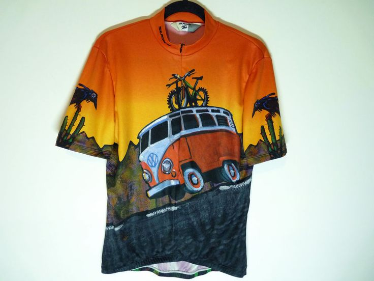Volkswagen bus cycling jersey maillot cycliste Sugoi - Great condition - Medium