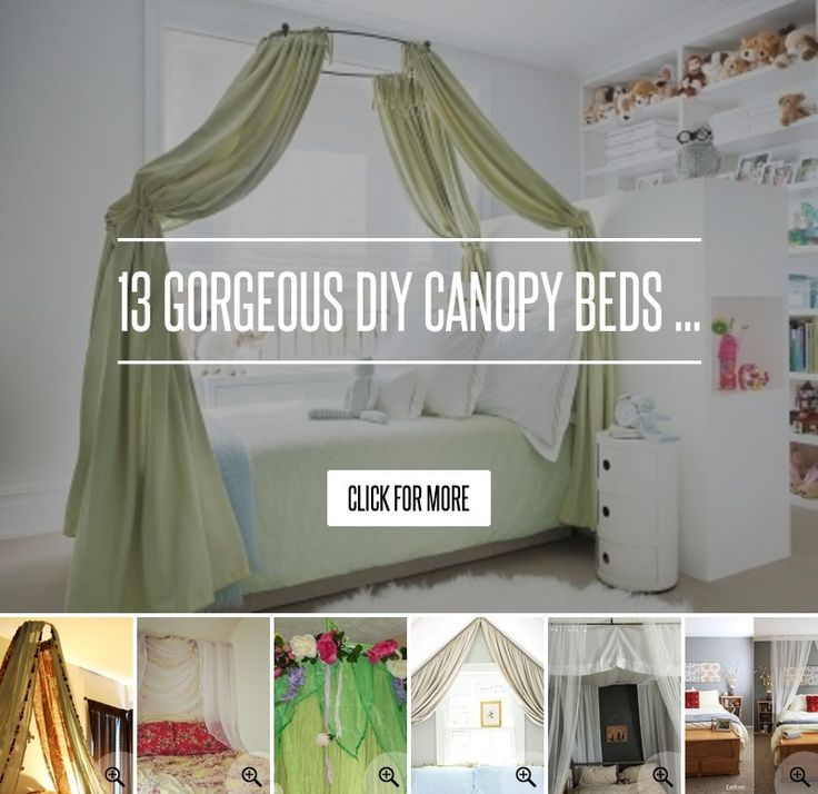 DIY Canopy for beds without buying a new bed !