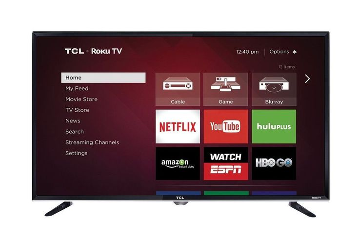 TCL 32 Inch SMART TV LED Slim Wall Mounted WITH BUILT-IN ROKU TV #TCL