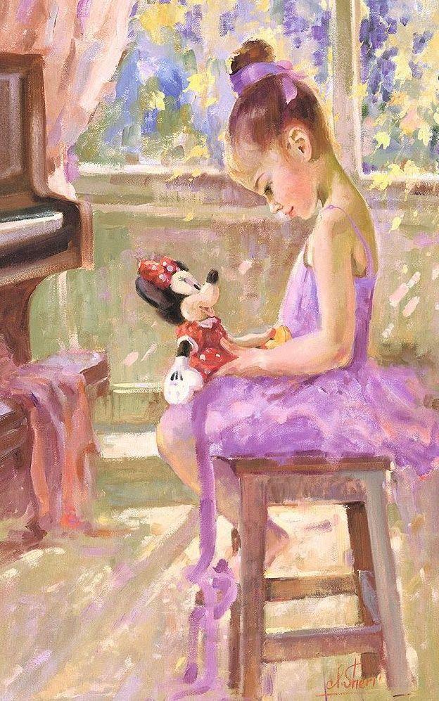 """Disney Fine Art: """"Joyful Inspiration"""" by Irene Sheri:)"""