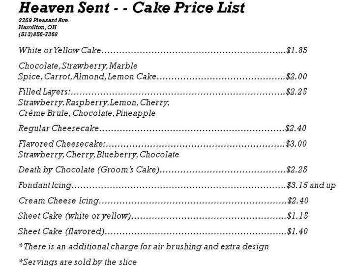 Carlo Bakeries Cakes Price List cakepins.com