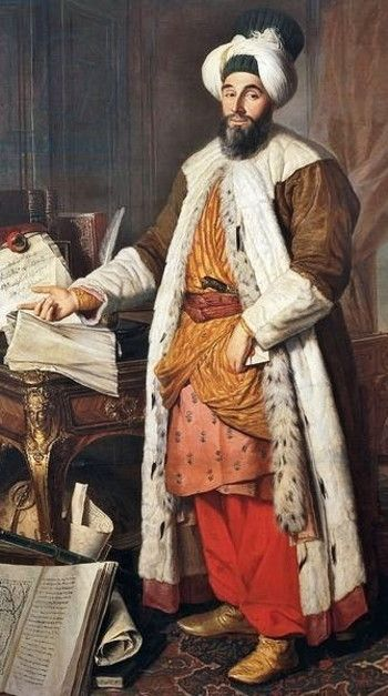Portrait of Ahmed III, Sultan of the Ottoman Empire (r: 1703-1730).