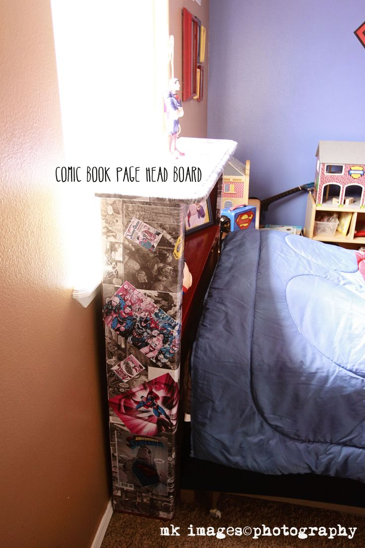 superman room superman bedroom superman comic book decoupage headboard