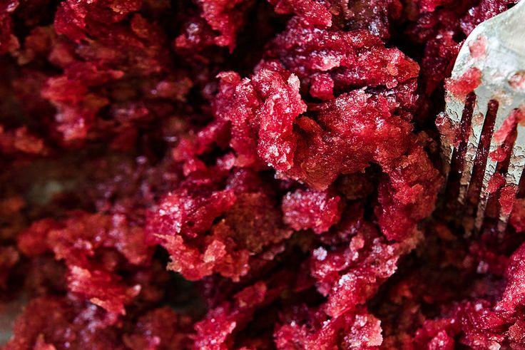 double grape granita - uses green grapes + concord grape juice # ...