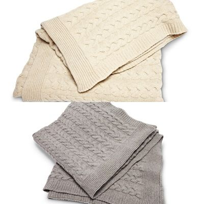 Florence Design new Cable pattern blankets!  We love them!