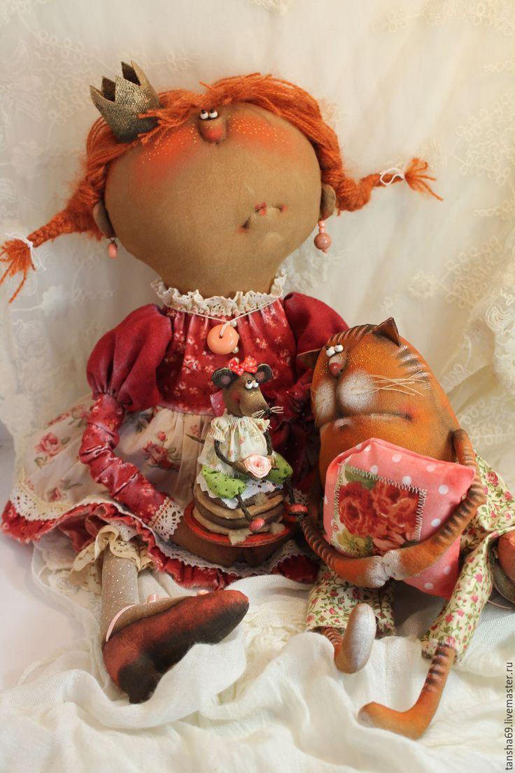 Купить Нипраздник!... - комбинированный, текстильная кукла, ароматизированная кукла, интерьерная кукла, котик, ткань, синтепух