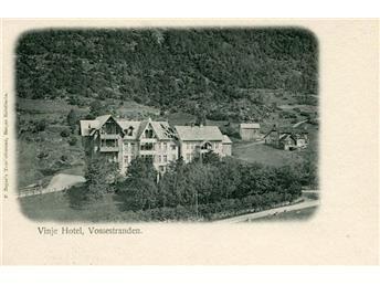 NORGE,VOSSESTRANDEN,VINJE HOTEL,GAMMALT VYKORT,**(12643)