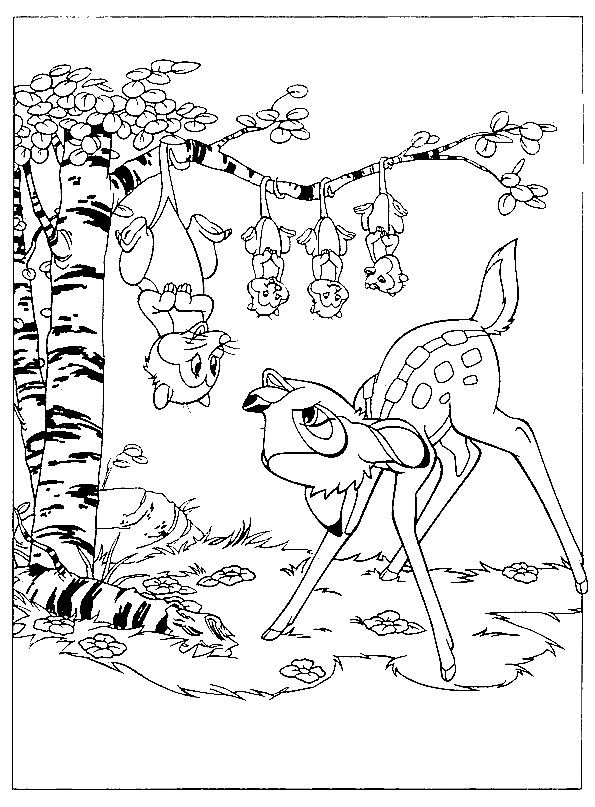 bambi coloring page 7 is a coloring page from bambi coloring booklet your children express their imagination when they color the bambi coloring page they