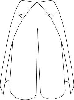 super einfacher Schnitt für eine Thai-Wickelhose. Auf französisch